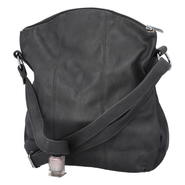 Praktická dámská kabelka Danica přes rameno, šedá