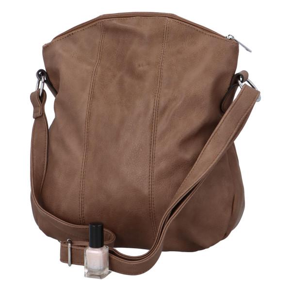 Praktická dámská kabelka Danica přes rameno, clay
