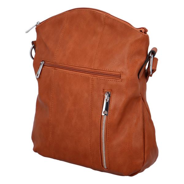 Praktická dámská kabelka Danica přes rameno, hnědá