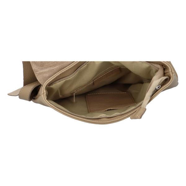 Stylový kožený batůžek Jadwiga, taupe