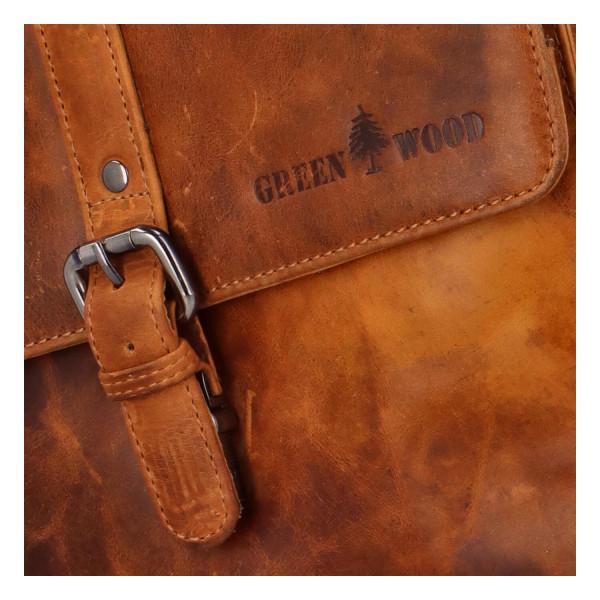 Luxusní kožený batoh Sendy travel, hnědý