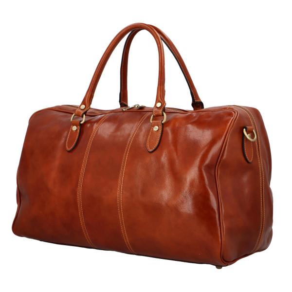 Luxusní cestovní taška Indila, koňaková