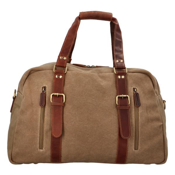 Luxusní cestovní kožená taška Greenwood travel Sam, hnědá