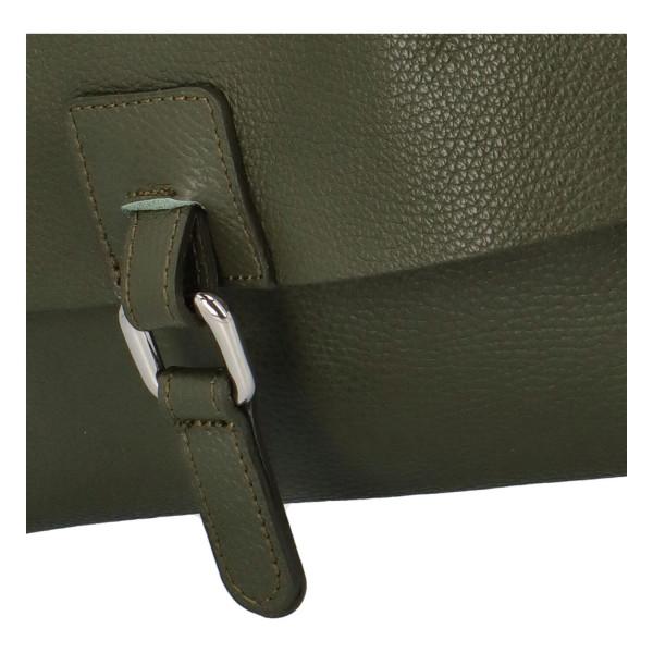 Dámský kožený batůžek Quido, zelený