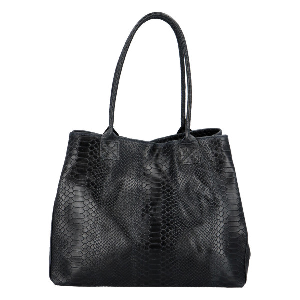 Stylová kožená kabelka Marianna do ruky, černá