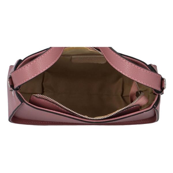 Trendy dámská kožená kabelka Maya, růžová