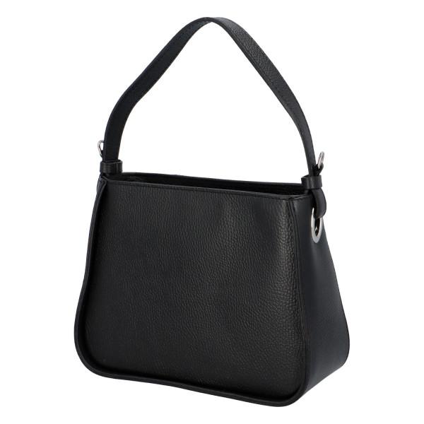 Trendy dámská kožená kabelka Maya, černá