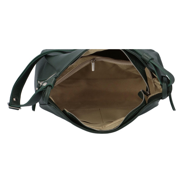 Praktická kožená dámská kabelka Marcella, zelená