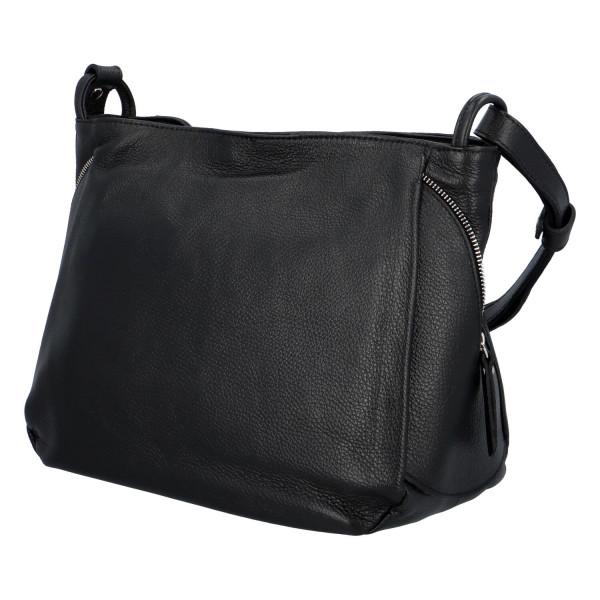 Praktická kožená dámská kabelka Marcella, černá