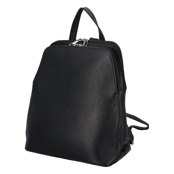 Elegantní dámský kožený batůžek Anthony, černá