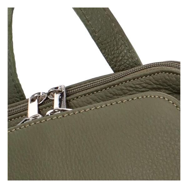 Elegantní dámský kožený batůžek Anthony, zelený
