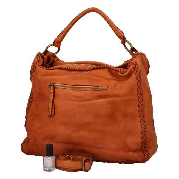 Prostorná kožená kabelka Andrea