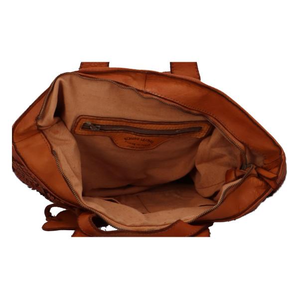 Módní kožená kabelka Petra
