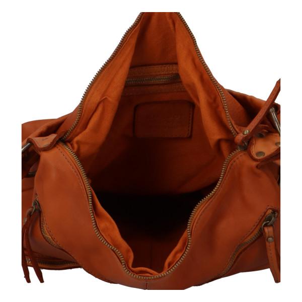 Luxusní kožená kabelka s kapsami Igor