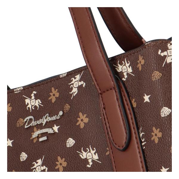 Trendy koženková kabelka přes rameno Judy, hnědá