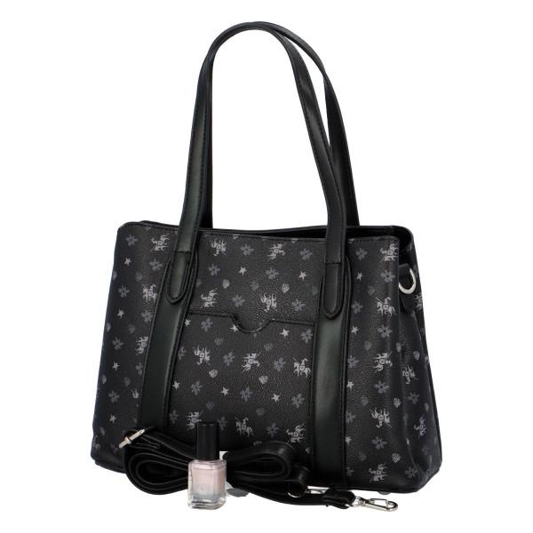 Trendy koženková kabelka přes rameno Judy, černá