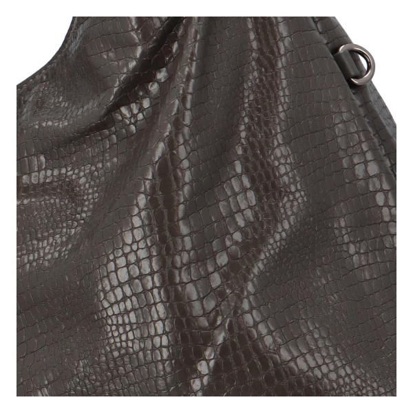 Trendy dámská kabelka Sáva s hadím vzorem, šedá