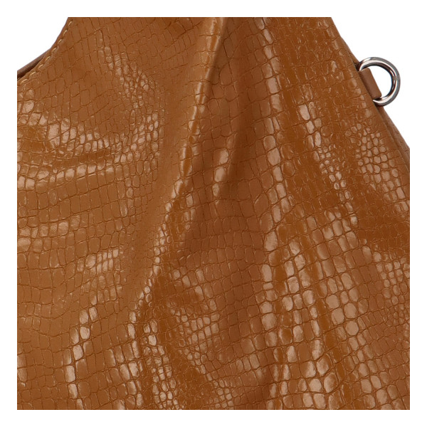 Trendy dámská kabelka Sáva s hadím vzorem, žlutá