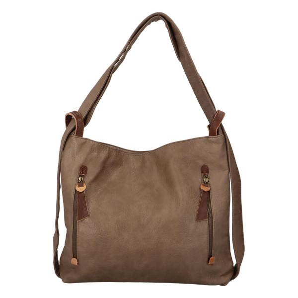 Stylový kožený kabelko batoh Tibor, soil