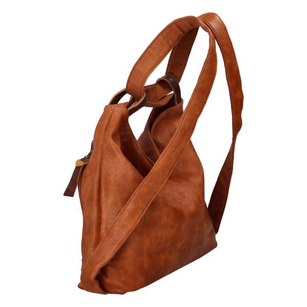 Stylový  kabelko batoh Tibor, světle hnědý
