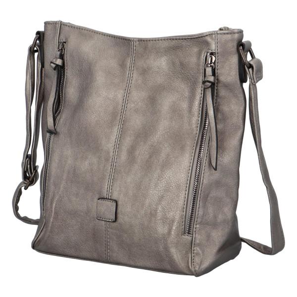 Stylová kabelka Lýdie, stříbrná