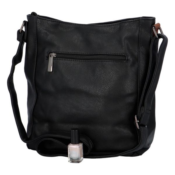Stylová kabelka Lýdie, černá-hnědá