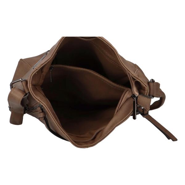 Stylová kabelka Lýdie, světle hnědá