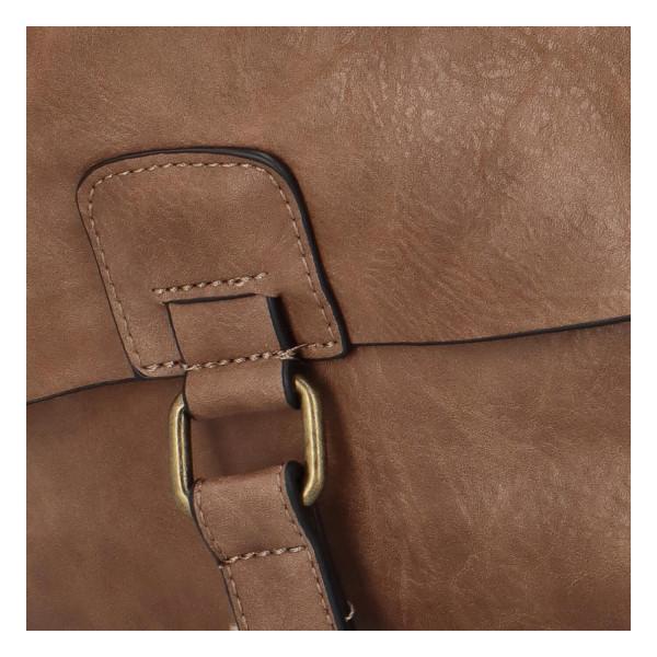 Koženkový batůžek Fio, světle hnědý