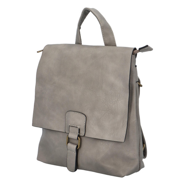 Koženkový batůžek Fio, šedý