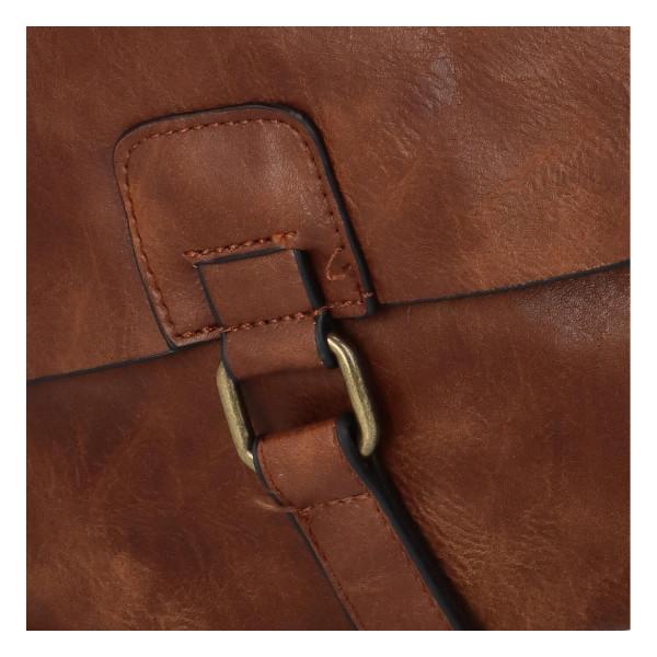Koženkový batůžek Fio, tmavě hnědý