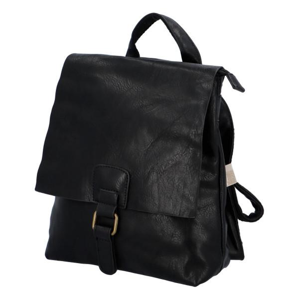 Koženkový batůžek Fio, černý
