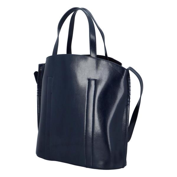 Prostorná pevná kabelka Lux, modrá
