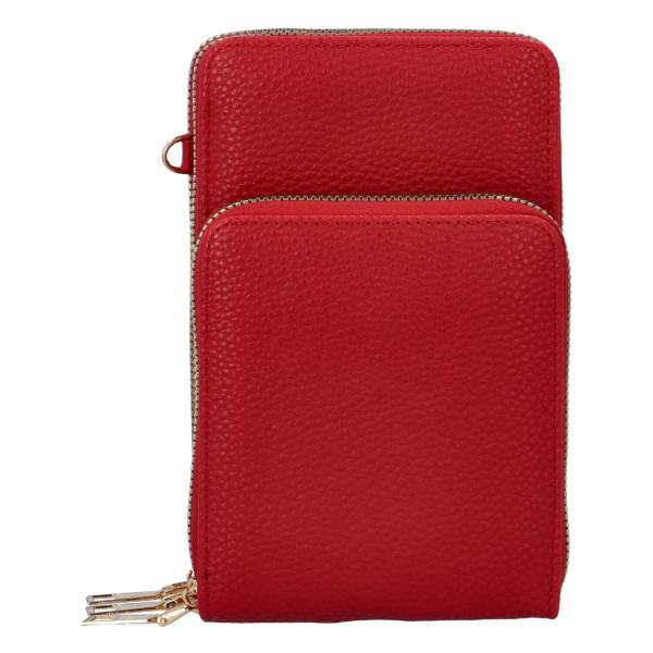 Koženková crossbody-peněženka Duo, červená