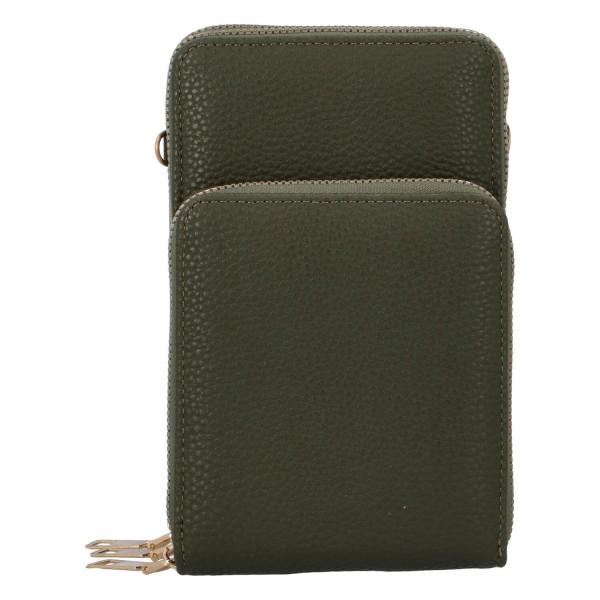 Koženková crossbody-peněženka Duo, zelená