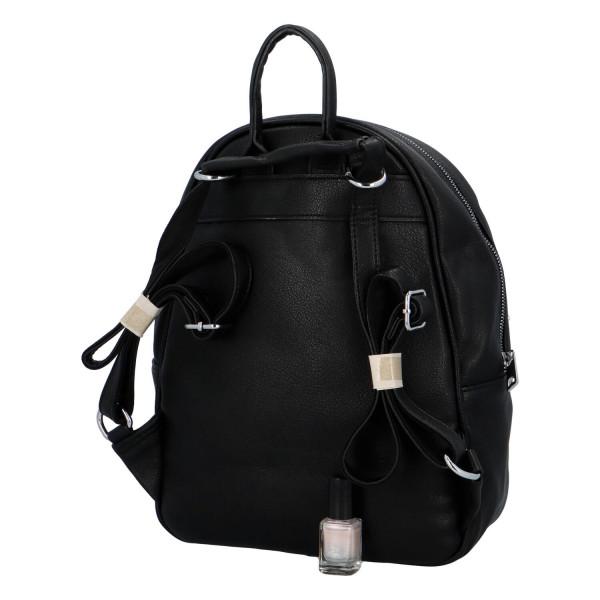Koženkový batůžek Endy, černý