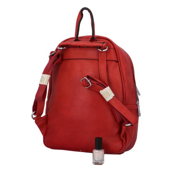 Koženkový batůžek Endy, červený