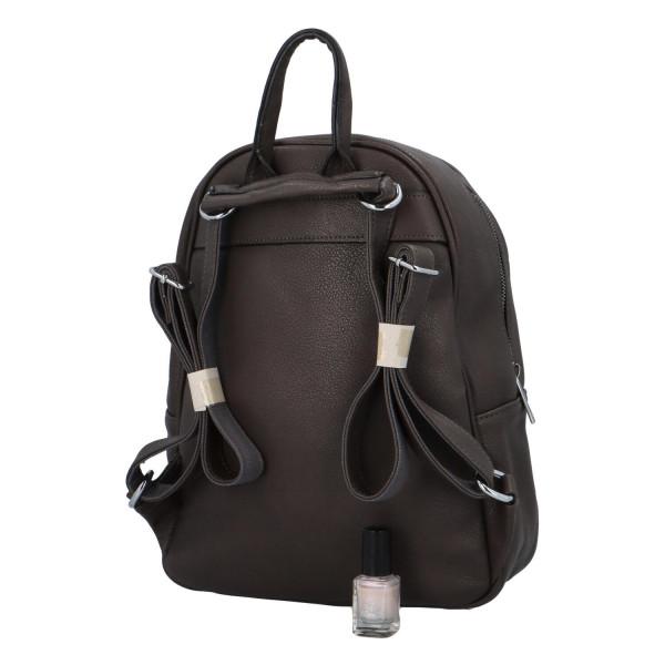 Koženkový batůžek Endy, šedý