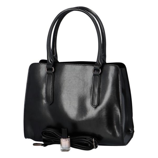 Pevná kufříková kabelka Essi, černá