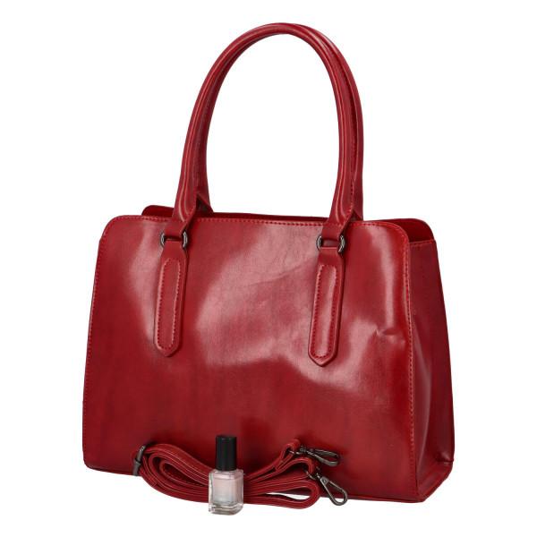 Pevná kufříková kabelka Essi, červená