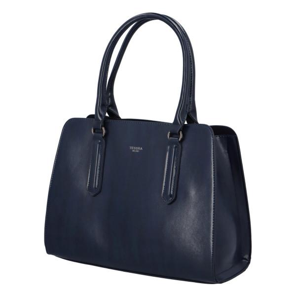 Pevná kufříková kabelka Essi, modrá