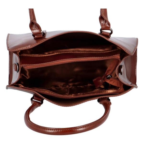 Pevná kufříková kabelka Essi, tmavě hnědá