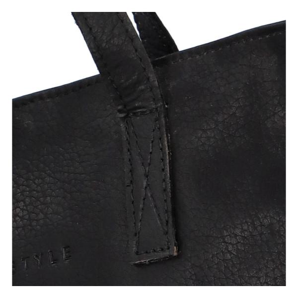 Kožená dámská kabelka Ezzy, černá