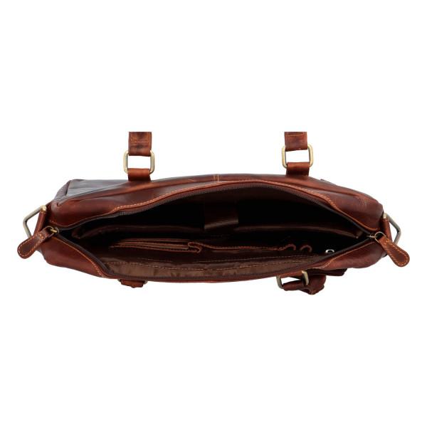 Pánská kožená business taška Matt, hnědá