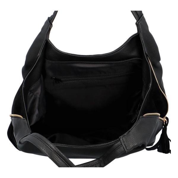 Stylová koženková kabelka Sandra, černá