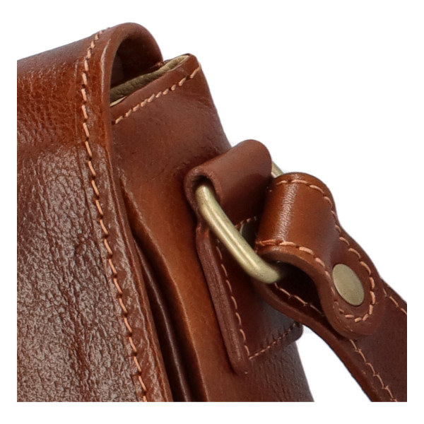 Pánská kožená taška Marco, hnědá matná