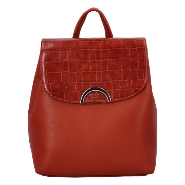 Módní dámský batůžek Hanna, červený