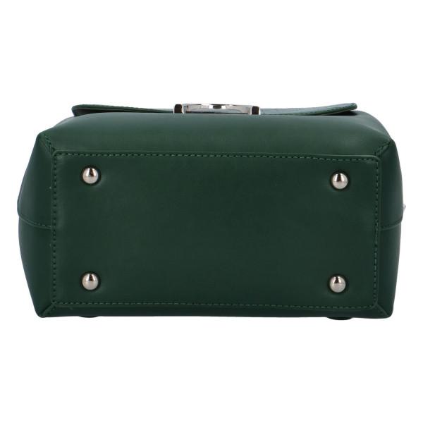 Módní dámský batůžek Hanna, tmavě zelený