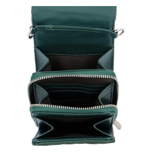 Malá módní prošívaná kabelka Tea, tmavě zelená