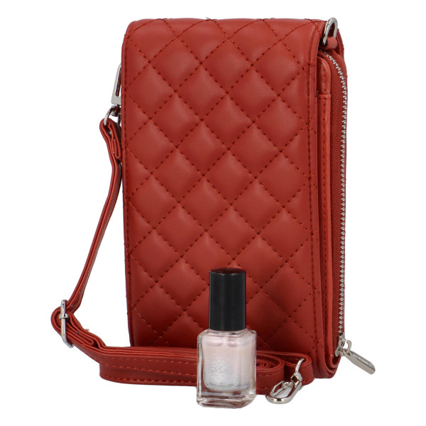 Malá módní prošívaná kabelka Tea, červená