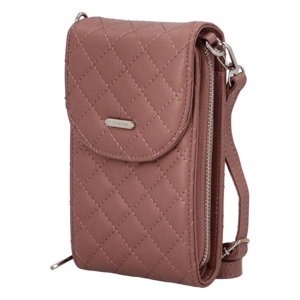 Malá módní prošívaná kabelka Tea, růžová